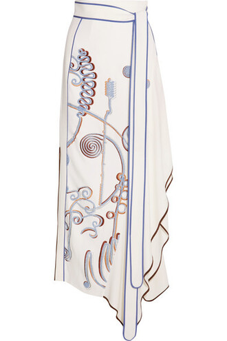 skirt maxi skirt maxi embroidered white