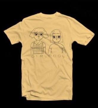 shirt girlpool indie band tumblr pale soft grunge art hoe mustard cute music warm indie
