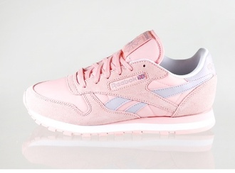 shoes reebok pink shoes retro womens running shoes classic trainers leather shorts laveder/pink german fashion usa white sneakers girly shoes sports shoes