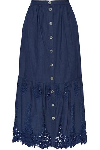 skirt maxi skirt maxi cotton crochet