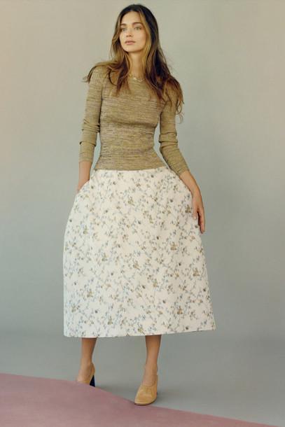 skirt top miranda kerr midi skirt