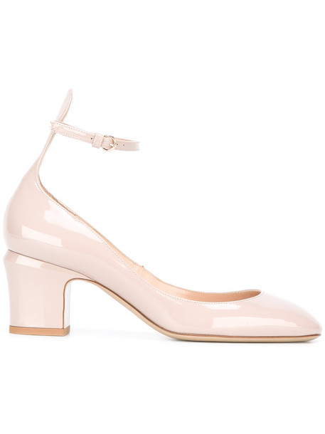 Valentino women pumps leather nude shoes