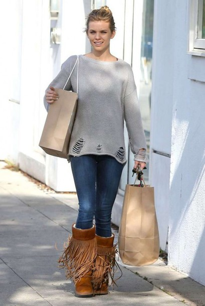 shoes boots fringe shoes fringes annalynne mccord sweater