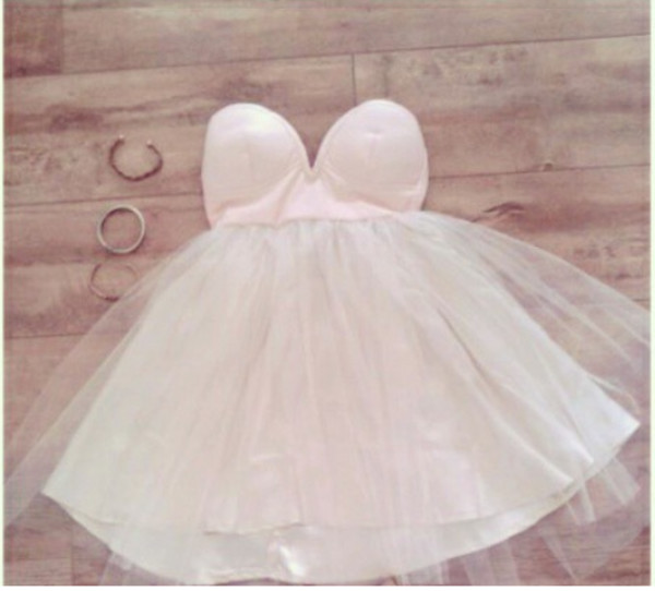 light pink white dress