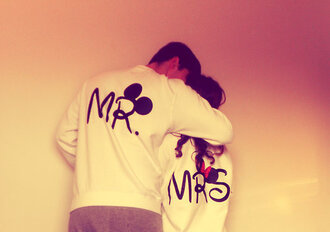 sweater mr. mrs. black mrs mr mickey mouse minnie sweater