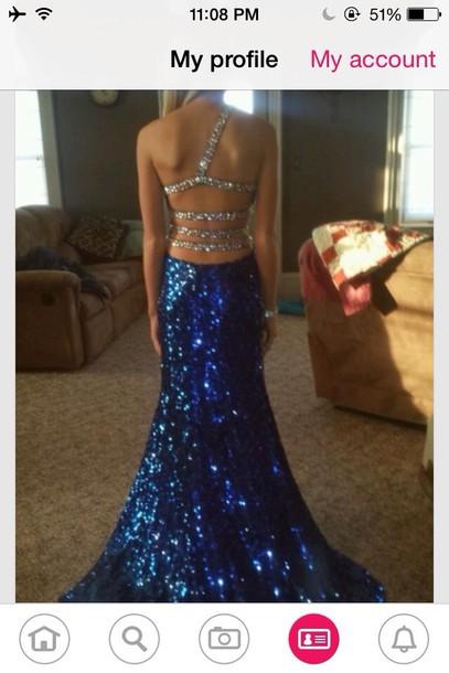 dress sparkle blue dress