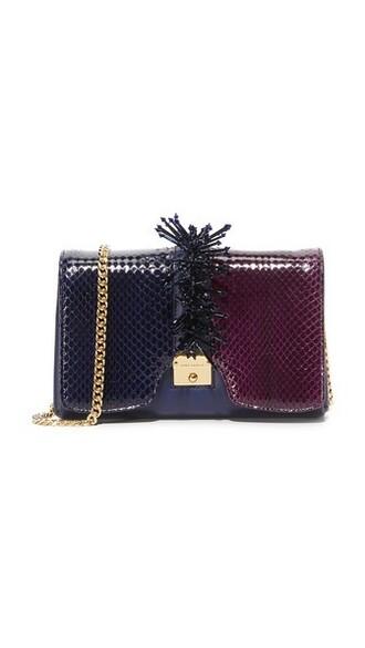 embellished bag shoulder bag blue