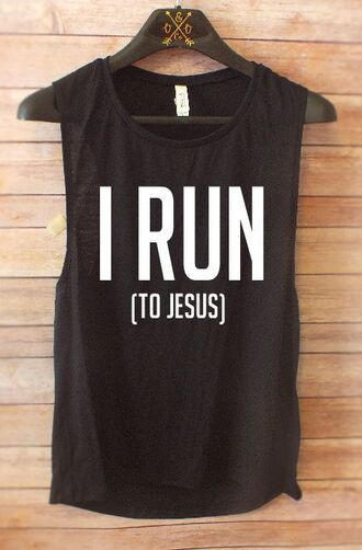 t-shirt jesus religious tank top muscle tee workout