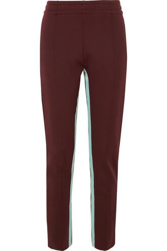 pants track pants burgundy