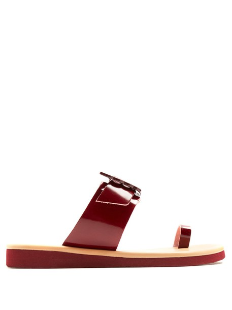 sandals leather sandals leather burgundy shoes