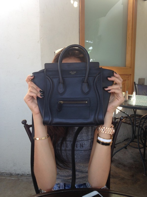 celine luggage black