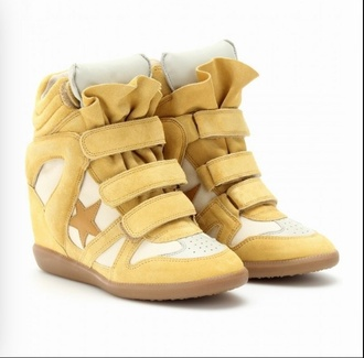 shoes yellow shoes isabel marant