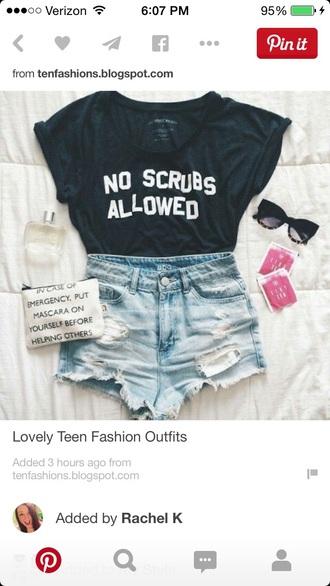shorts shirt bag