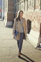 perla oreneta,t-shirt,pants,coat,shoes,bag