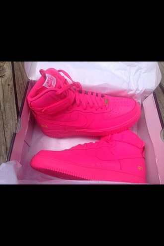 shoes pink shoes air force ones pink pink air force ones high top sneakers nike air force 1 nike sneakers blouse