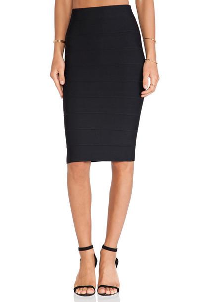 BCBGMAXAZRIA skirt pencil skirt black