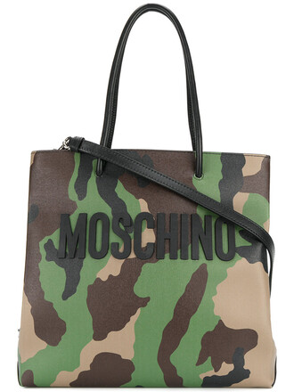 women camouflage leather bag