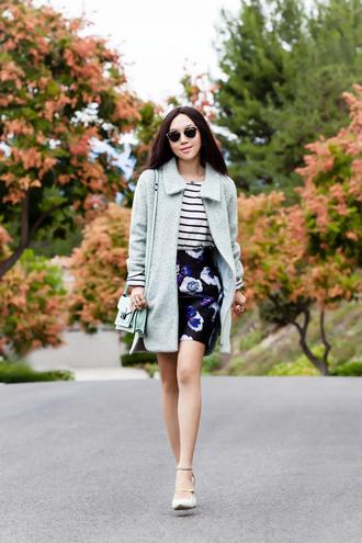 fit fab fun mom blogger top skirt coat shoes bag sunglasses jacket jewels