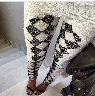 pants leggings high heels heels shoes style sequins glitter