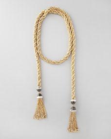 Rachel Zoe Long Tassel-End Necklace, 54