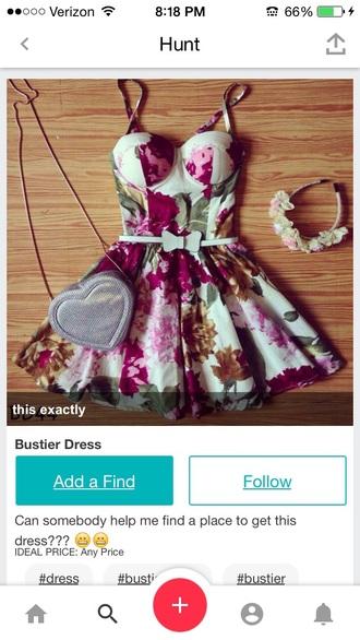 dress floral dress bustier dress