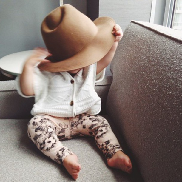 baby clothing beige hipster leggings