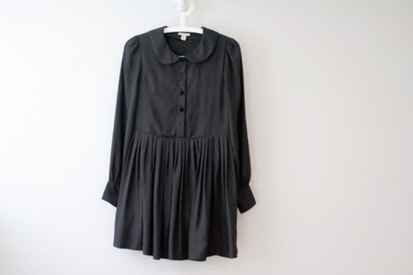 col claudine little black dress dress long sleeves short dress