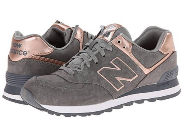 shoes new balance new balance 574 grey metallic shoes wheretoget. Black Bedroom Furniture Sets. Home Design Ideas