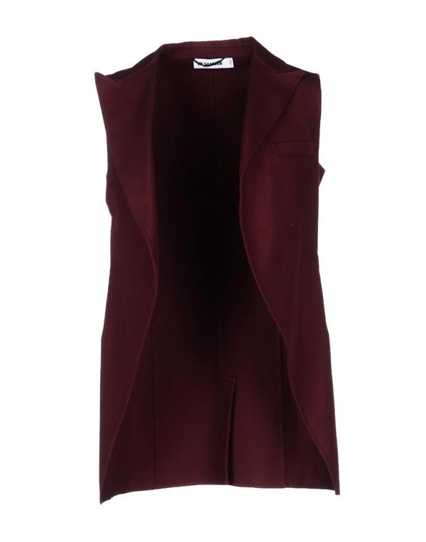 jacket Jil Sander blazer burgundy