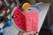 coque,iphone cover,iphone case,melone,fruits,pink,phone cover,watermelon print,pasteque,jewels,iphone,cover,lemonade,summercase