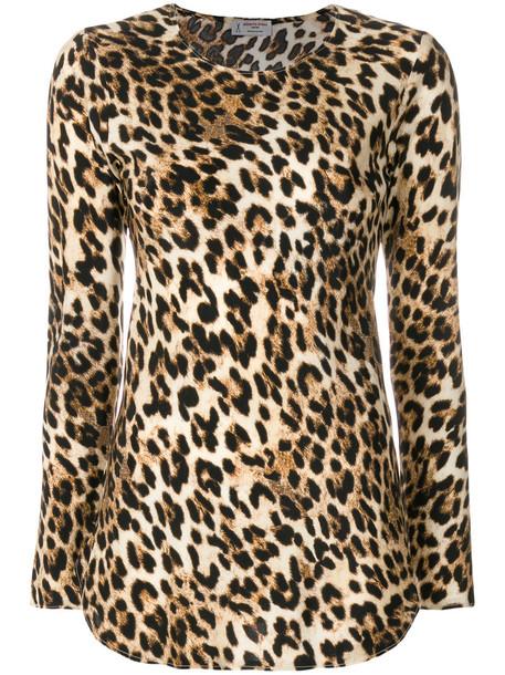 Alberto Biani top leopard print top women print silk brown leopard print