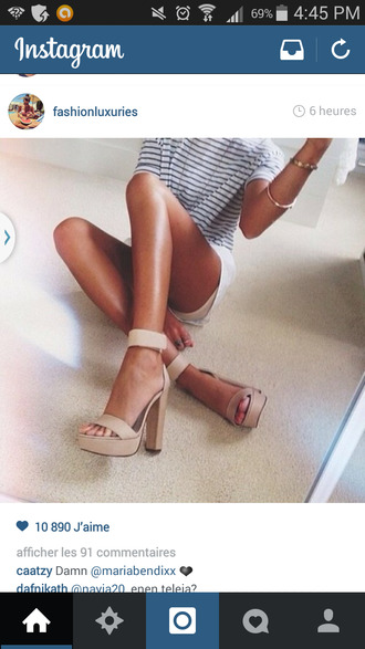 shoes platform shoes high heels nude nude high heels sandals shoed heels summer shoes tan summer top short beige chaussures talons sandales hautes ?t?
