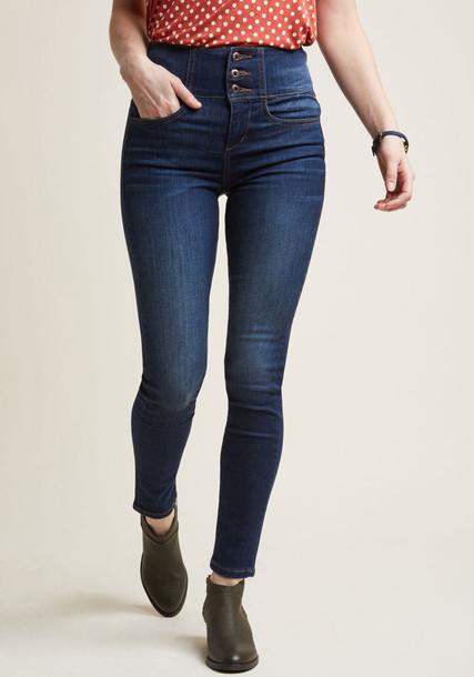 Modcloth jeans skinny jeans high