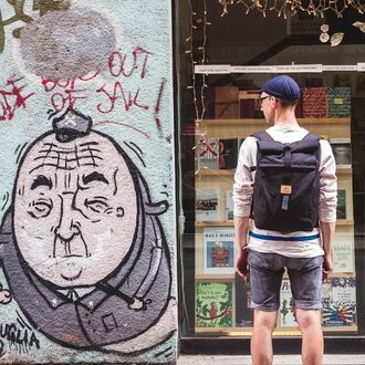 bag backpack black milan travel velotton rolltop backpack streetstyle mens accessories accessories adventure time velotton mitte backpack
