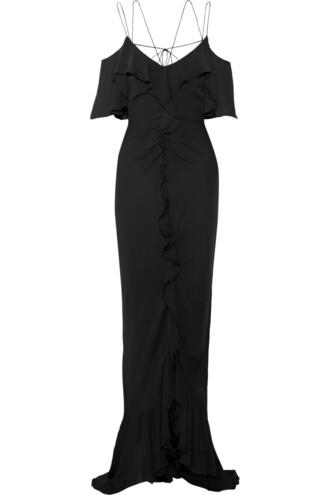 gown silk black dress