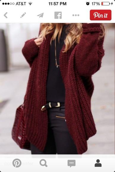 burgundy cardigan maroon cardigan cozy