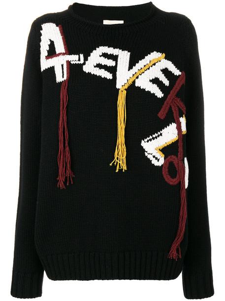 Wunderkind jumper women black wool sweater