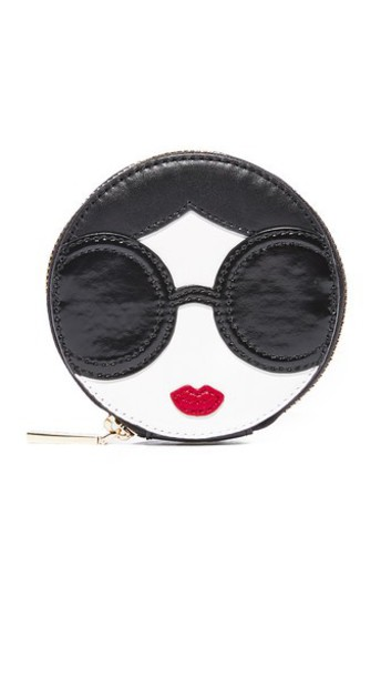 alice + olivia alice + olivia Stace Face Circular Coin Pouch in multi