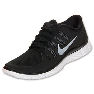 Nike Free 5 0 Womens Size Running Shoes Black White Silver ... 633257991243