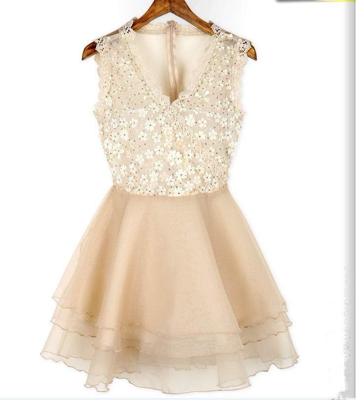 Pretty and lovely short lace dress ..