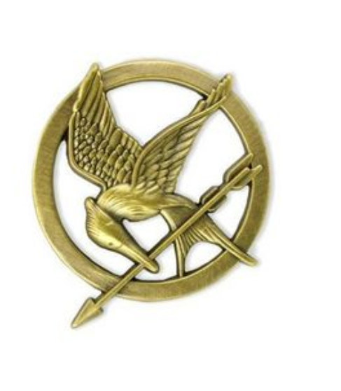 1pcs gold sx148  the hunger games size 35mmx35mm by charmnecklace