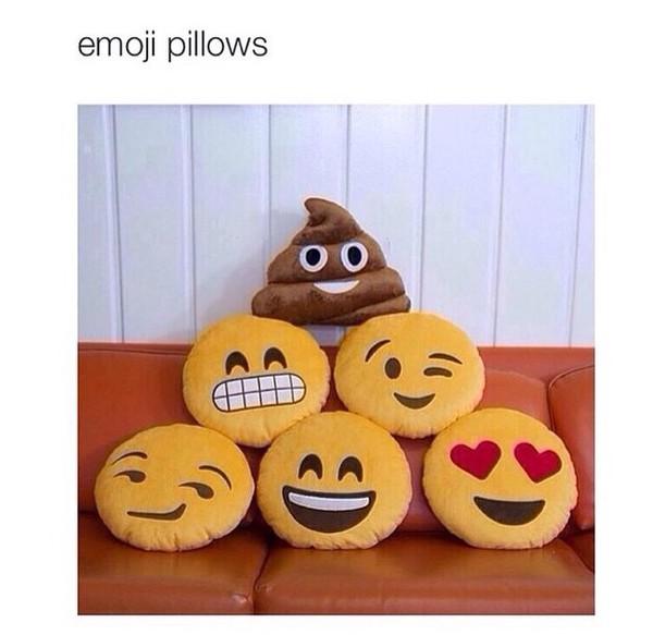 home accessory emoji pillow
