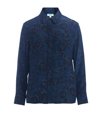 shirt floral shirt floral blue top