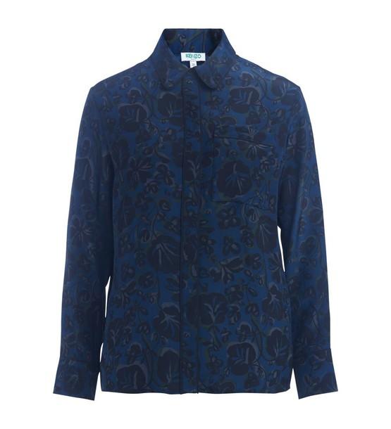 Kenzo shirt floral shirt floral blue top