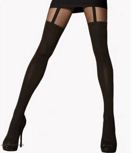 Mock suspender tights
