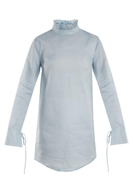 Cecilie Bahnsen dress mini dress mini cotton light blue light blue