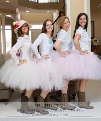 shirt maxi tutu skirt ball gown tutu skirt tea length tutu skirt juniors bridesmaids tutu skirt\ adult women tutu skirt cheap simple tutu skirt blush pink tutu skirt in_marry 28719 country beach wedding bridesmaids tutu skirt
