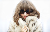 jacket,faux fur,nastygal,sunglasses