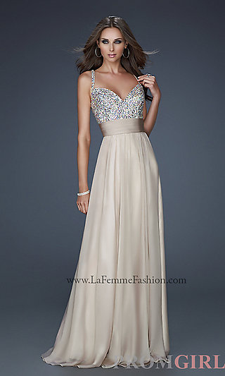 La femme prom gown, elegant long dress for prom