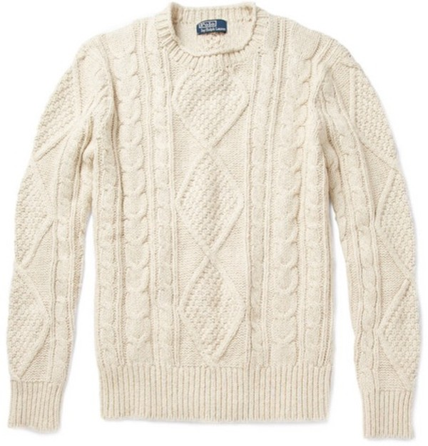 ralph lauren femme cable knit sweater